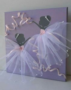 """""""Amazing Princess Bedroom Ideas and Tutorials: Everything A Little Princess…"""", """"Reserved listing for Kara. Dancing Ballerinas in por FlorasShop"""" Kids Crafts, Diy And Crafts, Craft Projects, Arts And Crafts, Paper Crafts, Princess Bedrooms, Princess Room, Princess Canvas, Princess Wall Art"""