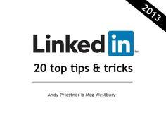 LinkedIn 20 Top Tips & Tricks