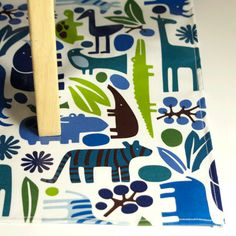 Laminated Cotton Oilcloth Splat Mat SELECT THE By Compelledtocraft