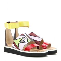 Peter Pilotto - Leather sandals - Spring is looking brighter than ever thanks to Peter Pilotto. Add not just one but a whole host of colours to your outfit with these leather flatform sandals. For even more comfort, team them with loose trousers and a cool T-shirt. seen @ www.mytheresa.com