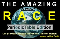 Periodic Table Amazing Element Race Game by Kate's Classroom Cafe High School Chemistry, Teaching Chemistry, Science Chemistry, Middle School Science, Physical Science, Science Lessons, Science Education, Science Activities, Chemistry Review