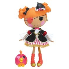 Lalaloopsy Peggy Seven Seas (035051525745) The lalaloopsy peggy seven seas doll comes from a magical place where she was once a rag doll. when she was brought to life she took on the personality of the sail fabric that was used to make her. Now she's ready to sail away and wants you to come along. Peggy is a fearless sailor who has an adorable pet parrot and is always on the lookout for magical adventures. a collectible poster is included. Ages 4 and up.