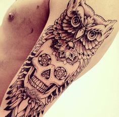tatouage bras et avant bras de style mixte japonais et mexicain tatoue moi pinterest. Black Bedroom Furniture Sets. Home Design Ideas