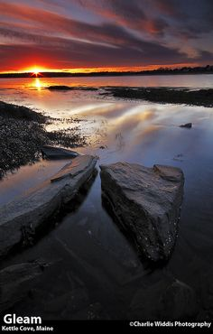 Sunset at Kettle Cove, Maine