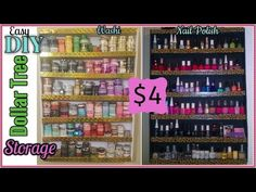 Dollar Tree DIY | Desk top or Wall Washi Tape Organizer | Craft Storage DIY | April 2017 - YouTube