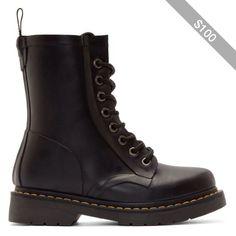 Dr. Martens Black Drench Rain Boots