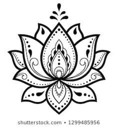 Indian style 164099980159801151 - Mehndi Lotus flower pattern for Henna drawing. - Indian style 164099980159801151 – Mehndi Lotus flower pattern for Henna drawing and tattoo. Lotus Flower Art, Lotus Flower Tattoo Design, Lotus Flower Drawings, Lotus Mandala, Henna Drawings, Mandala Drawing, Lotus Drawing, Mandala Pattern, Henna Designs