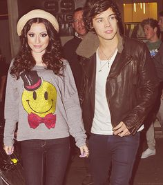Cher Lloyd and Harry Styles. niall in the background...BEST PICTURE EVER!!!!!