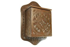Antique Frisian Chip Carved Hanging Salt Box, Dutch. #Chipcarved
