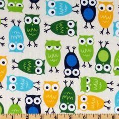 Velours Milleraies Urban zoologie owls blue