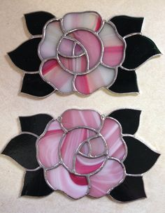 Pink and White Rose on Etsy, $35.00