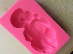 Large Sleeping Baby Mold Food chocolate clay fondant LIMITED QTY SILICONE MOLD #Unbranded