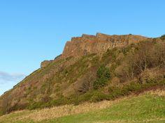 Looking up towards Salisbury Crags, Edinburgh on a walk through Holyrood Park. Salisbury, Looking Up, Athens, Edinburgh, Monument Valley, January, Park, City, Travel