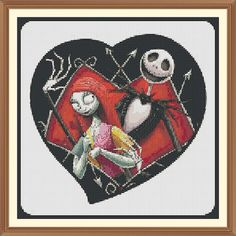 jack and sally nightmare before christmas Cross Stitch by Shawboyz Quilt Stitching, Cross Stitching, Cross Stitch Embroidery, Cross Stitch Patterns, Cross Pictures, Sally Nightmare Before Christmas, Nerd Crafts, Halloween Embroidery, Sewing Circles