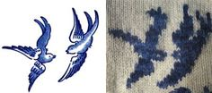 Ravelry: Willow Ware pattern by Lisa Grossman Sarah Tattoo, Willow Pattern, Blue China, Delft, Repeating Patterns, Knitting Socks, Textile Art, White Ceramics, Stitch Patterns