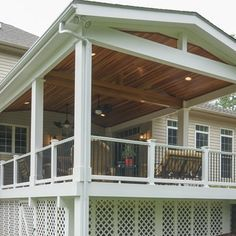covered deck ideas. Unique Deck The Entire Deck Is Covered With A Roof Structure To Protect It From The  Weather Elements And Covered Deck Ideas
