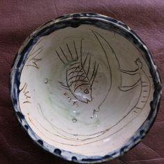 Hand built ceramic bowl. Made in New York.1993