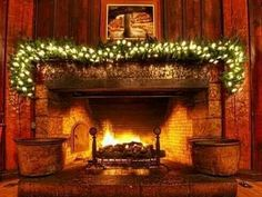 I love big open fireplaces♥