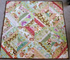 I would love to make this.  I've always wanted to make a quilt.