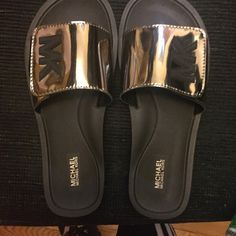 Ladies MK slides Brand new with box. Michael Kors Shoes Sandals