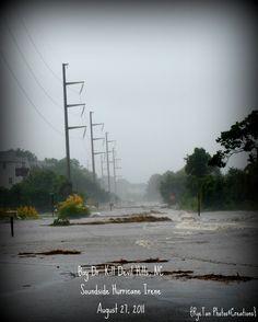 Nature...Hurricane Irene soundside flooding in Kill Devil Hills, NC 2011