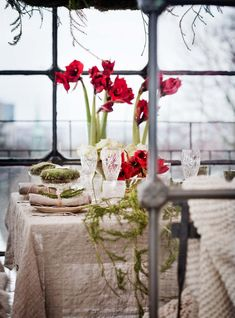 What a beautiful Christmas tablescape! I am so thinking about doing this for next year. How simple would this be to put together, yet it still looks gorgeous!