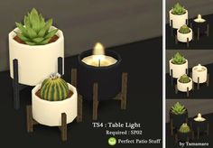 Tamamaro: Table lights • Sims 4 Downloads