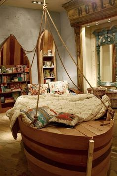 A fantasy bedroom made with pallets