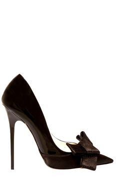 Jimmy Choo brown pvc high heel pumps with leather bow detailing. Hot Shoes, Crazy Shoes, Me Too Shoes, Black Shoes, Stilettos, High Heels, Pumps, Stiletto Heels, Chic Chic