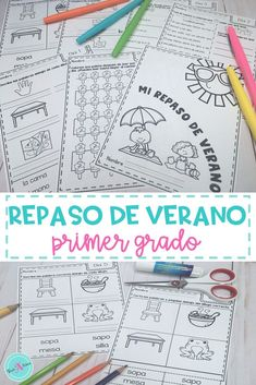 Ayuda a tus estudiantes a que no pierdan lo que aprendieron en Espanol con este cuanderno de repaso perfecto para kindergarten y primero de primaria. Las actividades incluyes repaso de las silabas, vocabulario, y comprension de la lectura. This summer review packet  for 1st grade will help your students remember what they learn this past school year. The activies include review of the syllables, building vocabulary, & reading comprehension. #duallanguage
