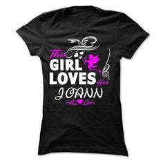 This girl loves her JOANN - #sweatshirt and leggings #maroon sweater. BUY TODAY AND SAVE => https://www.sunfrog.com/Names/This-girl-loves-her-JOANN-35482933-Ladies.html?68278