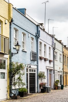 South Kensington Mews in London