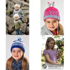 Strikkeopskrifter til børn Crochet Hats, Fashion, Threading, Knitting Hats, Moda, Fashion Styles, Fashion Illustrations