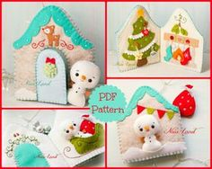 This PDF sewing pattern is to make a snowmen and his Christmas home book from felt fabrics. This pattern is hand sewn. Finished size: 6x 7 THIS IS NOT A FINISHED BOOK. Pattern does not include Doll, book, supplies or fabric. Language: English THIS PDF e-Pattern includes: . Step by step photo tutorial. . A material and supply list. . Full size pattern pieces just Print and Sew! (No need to enlarge or resize!) Skill Level: easy (are suitable for all levels of sewers) Instant Download! ...