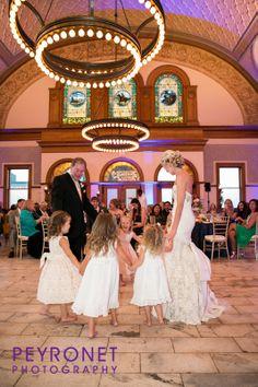 Ashton Depot, Fort Worth - Reception #FortWorthWeddings #Reception #FlowerGirls #Bride #Classic