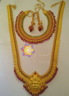 Gold Temple Jewellery, Real Gold Jewelry, Gold Jewelry Simple, Gold Jewellery Design, Bridal Jewellery, Gold Haram, Gold Earrings Designs, Antique Necklace, Gold Necklaces