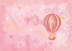 Hot air balloons free digital stamps
