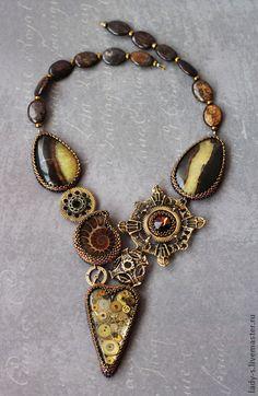 """Necklaces, handmade beads. Steampunk Necklace """"Hugo."""" Gulnara Sadykov. Shop Online Fair Masters. Steampunk jewelry"""