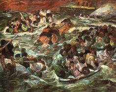 Max Beckmann, Sinking of the Titanic, 1912