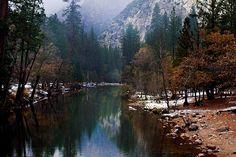 mountains and autumn