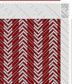 Hand Weaving Draft: Figure 2965, Atlas de 4000 Armures, Louis Serrure, 20S, 10T - Handweaving.net Hand Weaving and Draft Archive