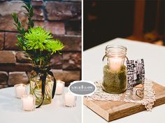 earthy wedding decor