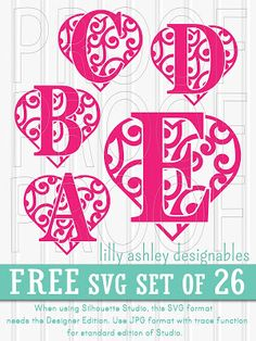 Freebie SVG set of letters A-Z!!