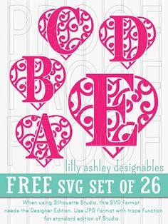 Freebie SVG cut file set of letters A-Z!