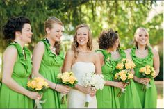 Independent Designer: November 2010 - green dresses with yellow flowers