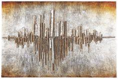Dieses Wandbild mit den Maßen von ca. 120 x 80 cm (B x H) strahlt das Flair einer Großstadtmetropole aus. Die dominante Skyline ist in harmonischen Farben gehalten und mit einem edlen 3D-Effekt versehen. Der silberfarbene Rahmen aus Tannen-Nachbildung passt perfekt zu Ihrem neuen Wandbild. Das in Handarbeit entstandene Accessoire schmückt Ihre vier Wände!