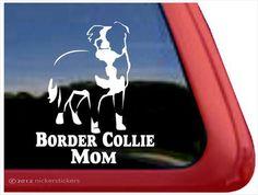 Border Collie Mom ~ Border Collie Vinyl Window Auto Decal Sticker  #Auto #Border #Collie #Decal #Sticker #Vinyl #Window From BorderCollies.xyz. Click through for more!