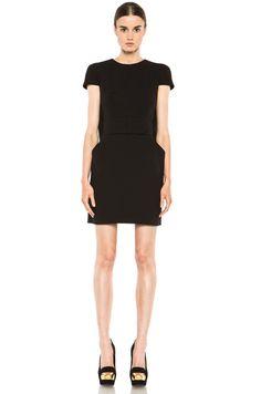 ALEXANDER MCQUEEN Cape Dress in Black