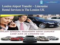 Limousine rental car services in the london airport transfer .