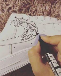 Crepped, custom Nike Air Force 1 sneakers made by professional artists. All our sneakers are made with care. Nike Air Force One, Nike Shoes Air Force, Nike Air Force 1 Outfit, Air Jordan Shoes, Custom Painted Shoes, Custom Shoes, Hand Painted Shoes, Custom Clothing, Custom Af1